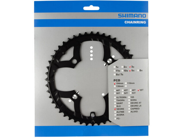 Shimano Deore FC-M533 Chainring 9-speed black